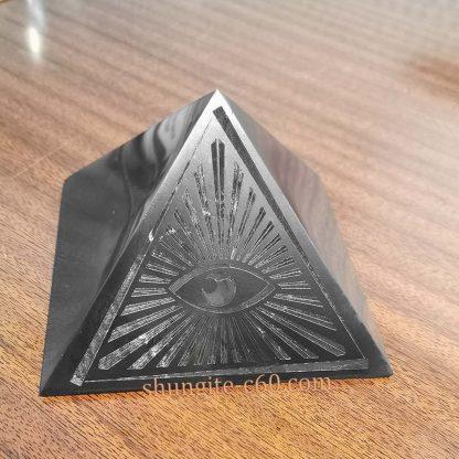 shungite all seeing eye real pyramid
