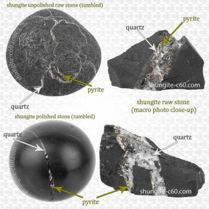 shungite rock and natural inclusions
