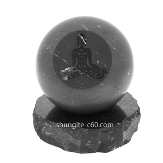 shungite meditation sphere made of natural stone