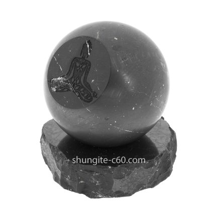 shungite meditation sphere made of natural rock