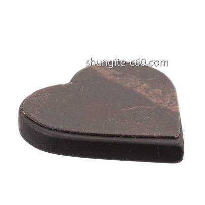 shungite emf protection plate unpolished heart