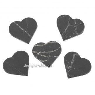 shungite emf protection plate heart