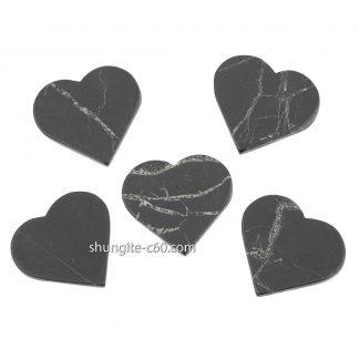 shungite emf protection plate heart