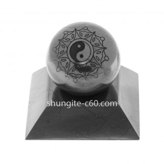 Shungite ball from Russia with engraved