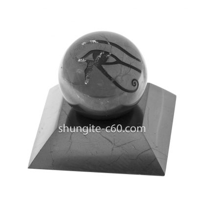 stone sphere of shungite and stand