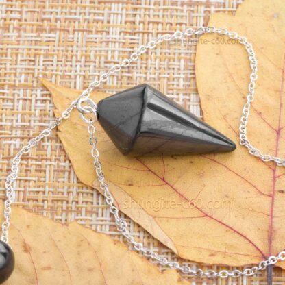 Shungite Pendulum with cone shape