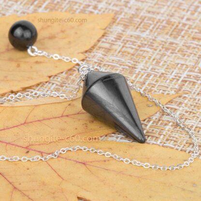 Shungite Pendulum energy stone for biolocation