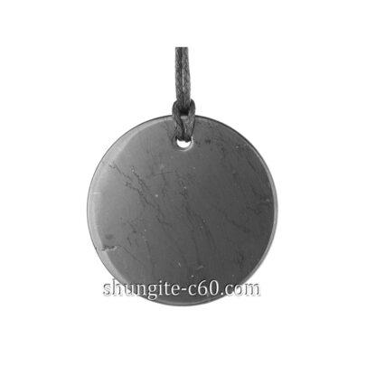 shungite pendant circle