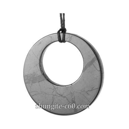 shungite pendant circle in circle