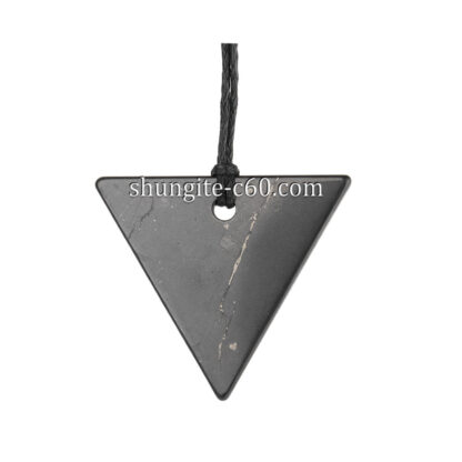 shungite triangle pendant emf protection