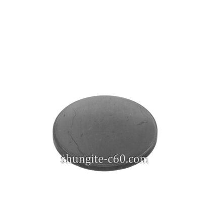 shungite stone round plate