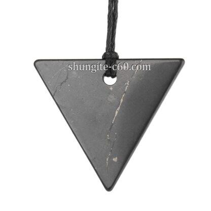 shungite pendant triangle set