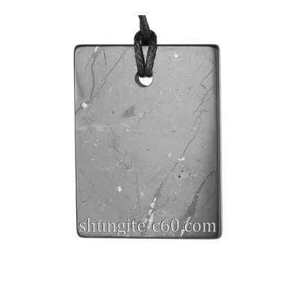 shungite pendant rectangle