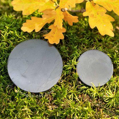 shungite plate 5 and 7 cm diameter