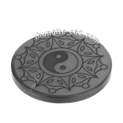 real shungite emf protective circle Yin and Yang сreation and unity