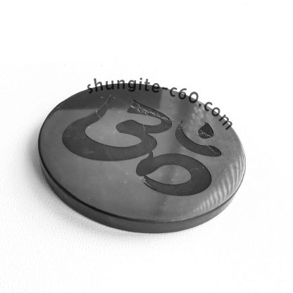shungite emf shield plate engraved Om