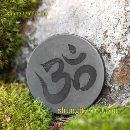 shungite emf shield plate Om