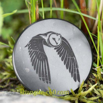 emf shielding shungite circle owl