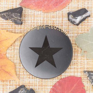 shungite plate shield 5g with engraved star