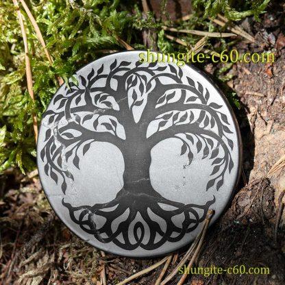 original shungite circle for emf tree of life celtic