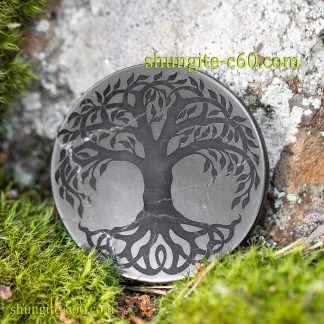 shungite circle for emf tree of life celtic