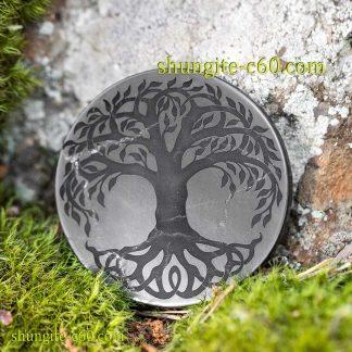 shungite circle for emf tree of life celtic