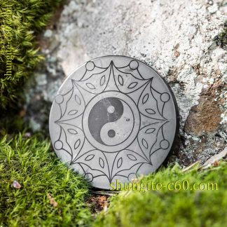 shungite emf protective circle Yin and Yang сreation and unity