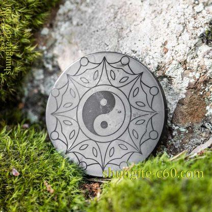 shungite emf protective circle Yin and Yang сreation and unity