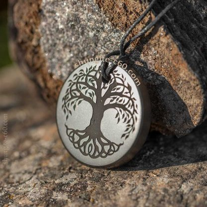 personalized drawing tree of life image on a shungite
