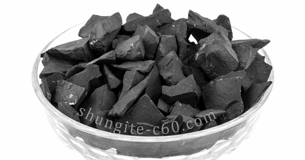Antioxidant shungite chips for water purification