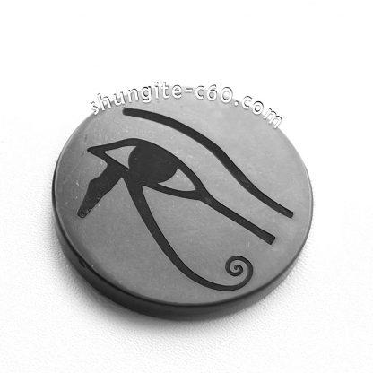 shungite emf shield circle Eye of Horus on a magnet