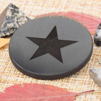 shungite plate shield 5g with engraved image star