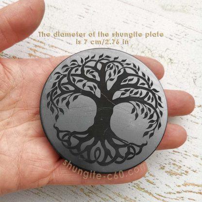 stone engraved disc 7 cm