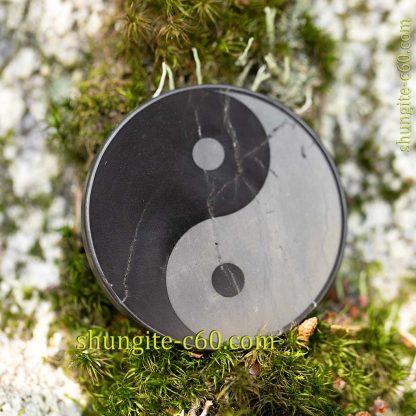 shungite emf protective plate Yin Yang