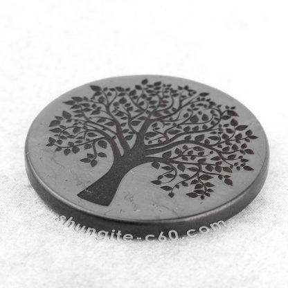 shungite emf circle tree of life engraved
