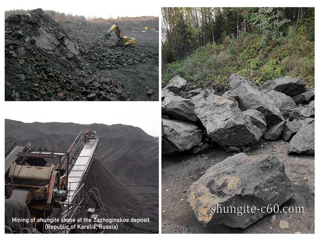 shungite mining site in karelia