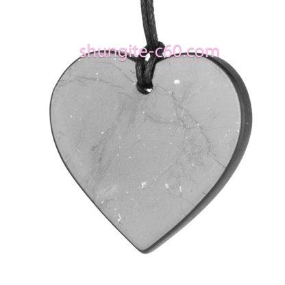 shungite pendant heart with gift box