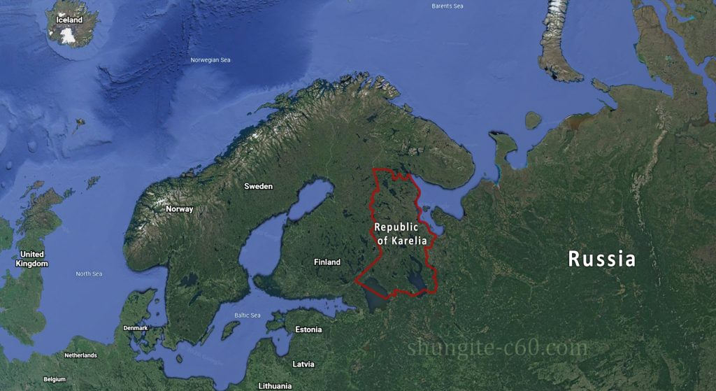 Karelia is a region in Russia, it is the birthplace of shungite with antioxidant properties