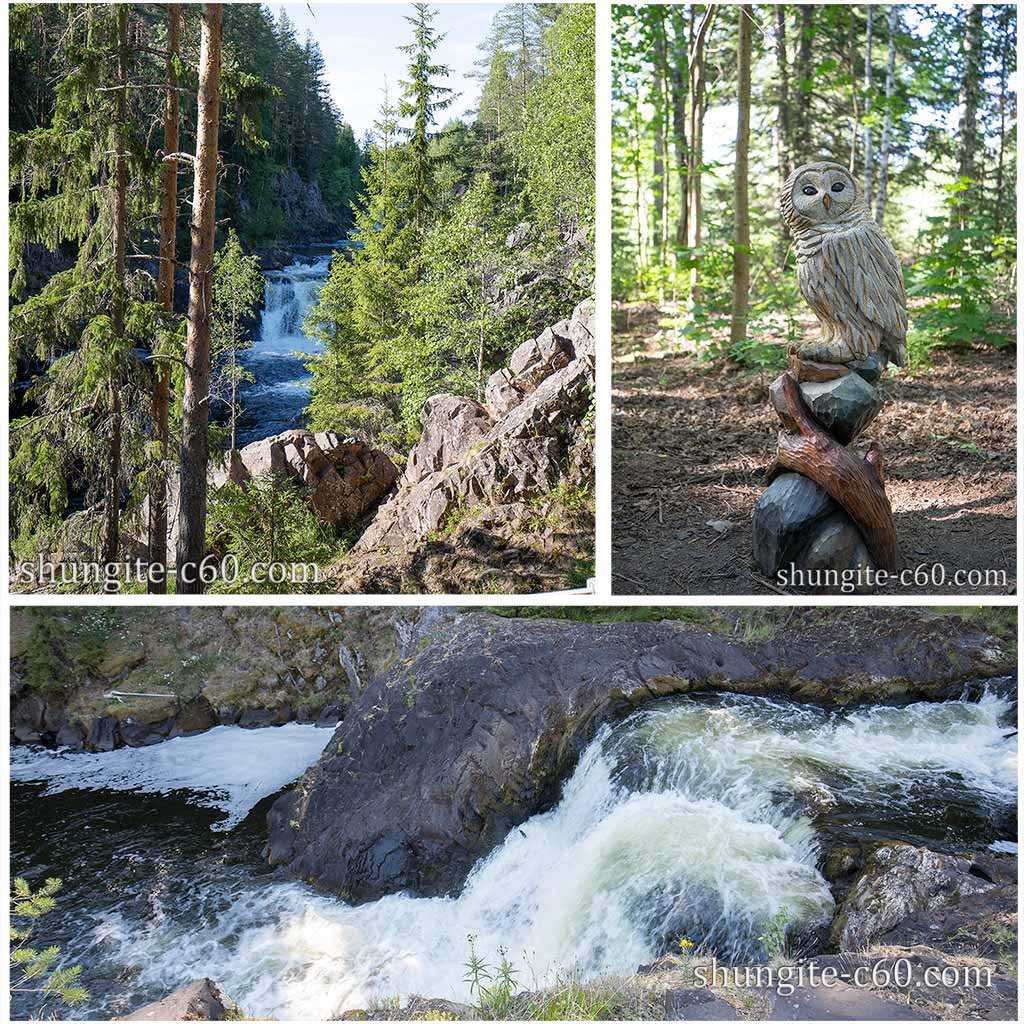 Karelian waterfall Kivach - the second highest in Europe.