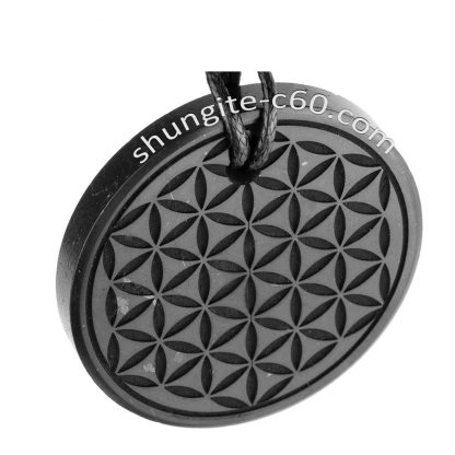 top view of a stone jewelry flower pattern