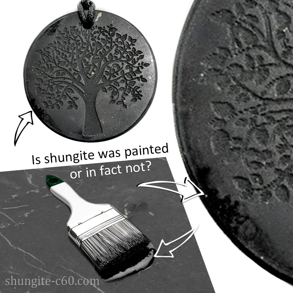 Wearing shungite raised the question of whether it was dyed