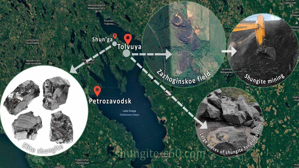 Shungite deposits in karelia