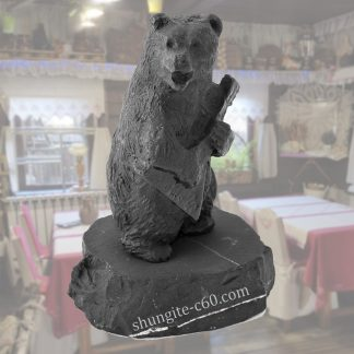 shungite figurine bear with balalaika