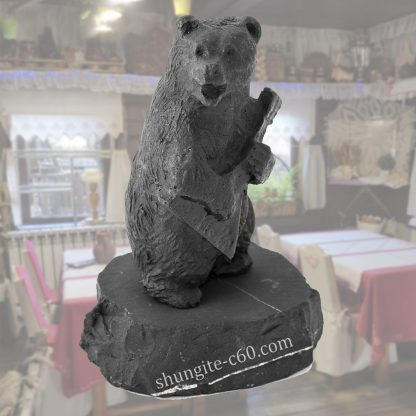shungite figurine bear with balalaika