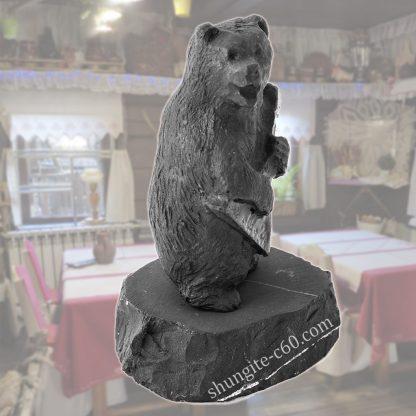 shungite figurine bear with balalaika russian