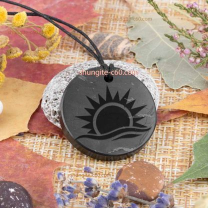 shungite engraved amulets sun