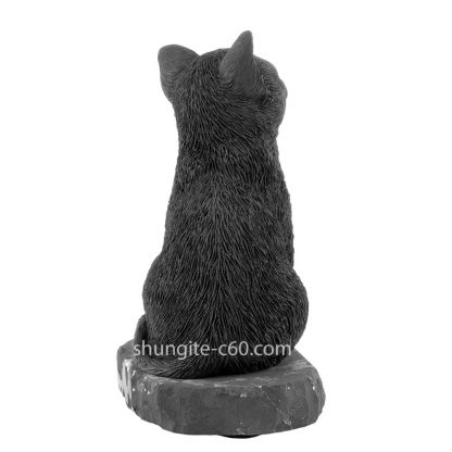 shungite cat made of natural stone