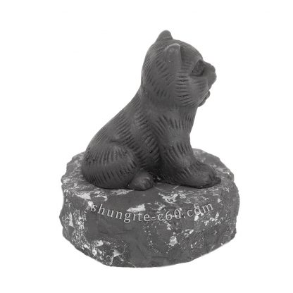 black cat statuette of stone