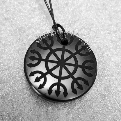 shungite meditation necklace Ashtanga spiritual