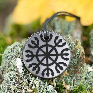shungite necklace for Yoga Ashtanga Yantra